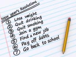 List of New year's resolution