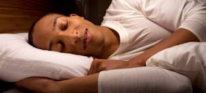 man sleeping comfortable for better health